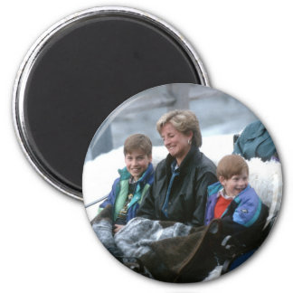 No.69 William, Diana and Harry Lech 1993 2 Inch Round Magnet