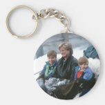 No.69 William, Diana and Harry Lech 1993 Basic Round Button Keychain