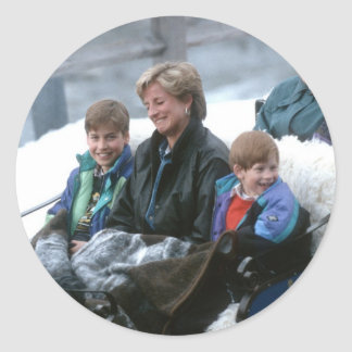 No.69 William, Diana and Harry Lech 1993 Classic Round Sticker