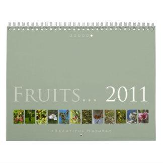 (no 6) frutas 2011: Naturaleza hermosa - calendari Calendarios