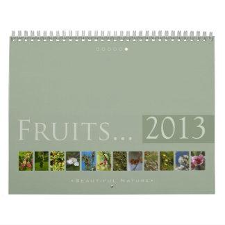 (no 6) frutas 2013: Naturaleza hermosa - calendari Calendarios
