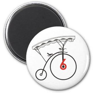 No. 6's Village Badge 2 Inch Round Magnet