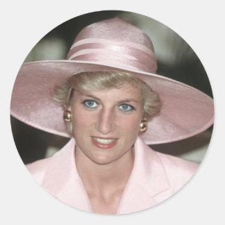 No.70 princesa Diana el Camerún 1990 Etiquetas Redondas