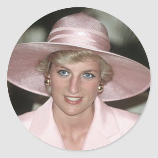 No.70 Princess Diana Cameroon 1990 Classic Round Sticker