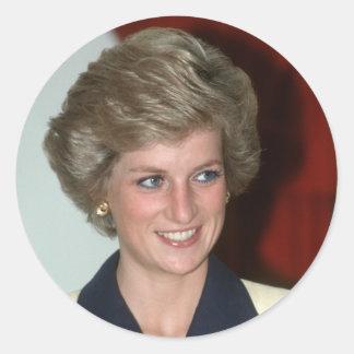 No.71 princesa Diana Hong Kong 1989 Pegatinas Redondas