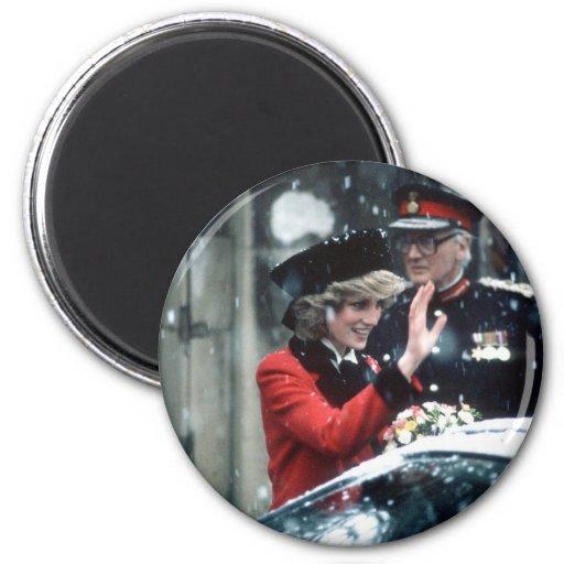 No.73 princesa Diana Cambridge 1985 Imán Redondo 5 Cm