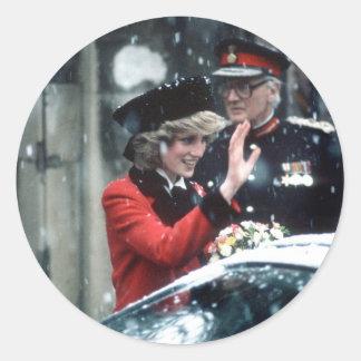 No.73 princesa Diana Cambridge 1985 Etiquetas Redondas