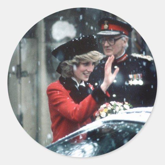 No.73 Princess Diana Cambridge 1985 Classic Round Sticker
