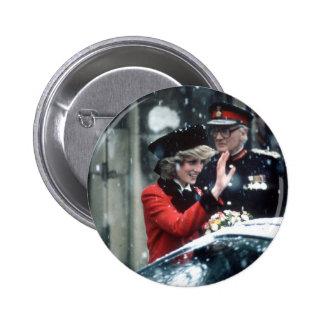 No.73 Princess Diana Cambridge 1985 Pinback Button