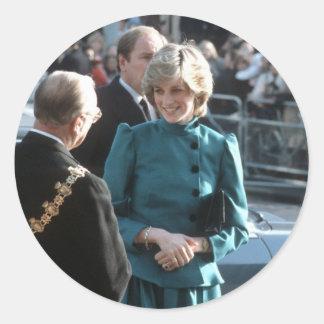 No.74 princesa Diana Croydon 1983 Etiqueta Redonda