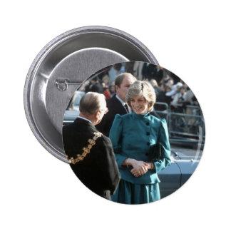 No.74 Princess Diana Croydon 1983 Button