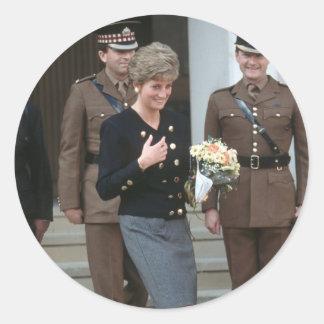 No.75 princesa Diana Guards Chapel 1991 Etiqueta Redonda