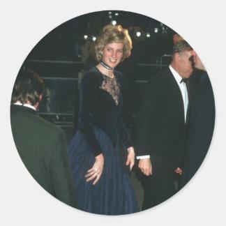 """No.76 princesa Diana """"Amadeus"""" 1985 Pegatina Redonda"""