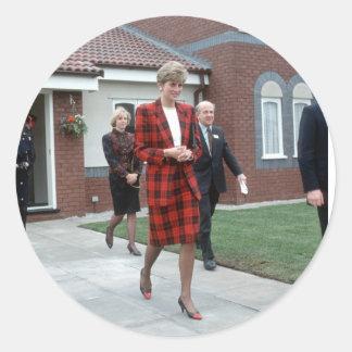 No.77 Princess Diana Chartham 1990 Classic Round Sticker