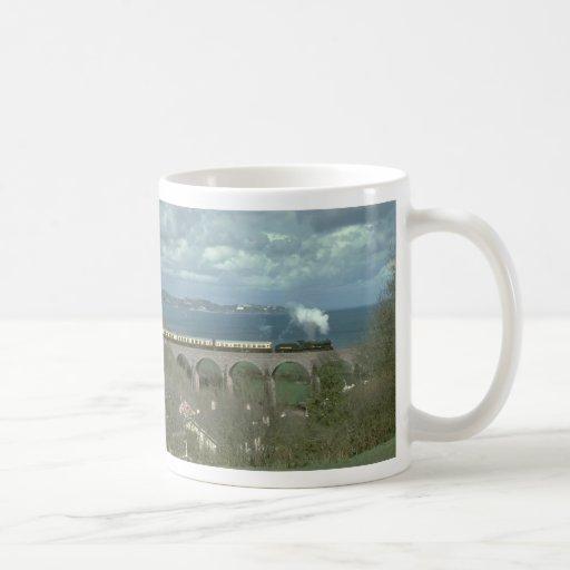 No. 7827 Lydham Manor skirts the coast in Torbay Classic White Coffee Mug