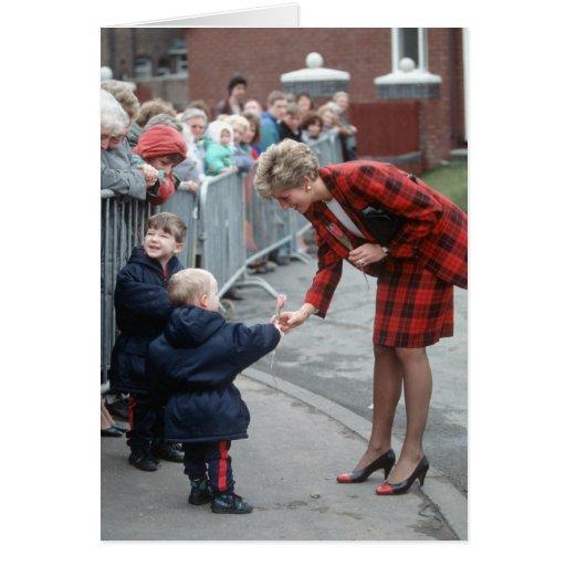 No.78 princesa Diana Chartham 1990 Tarjeta De Felicitación