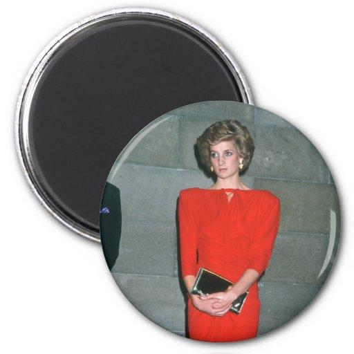 No.79 princesa Diana Melbourne 1985 Imán Para Frigorifico