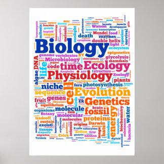 No. 7 de Wordle de la biología Póster
