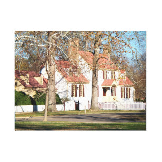 No # 802 - Colonial Style Home est. 1700. Canvas Print