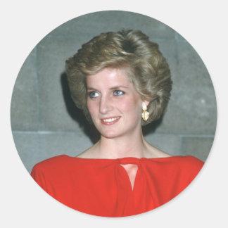 No.80 princesa Diana Melbourne 1985 Pegatina Redonda