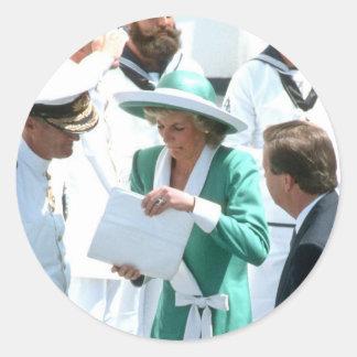 No 81 princesa Diana Sydney 1988 Pegatina Redonda