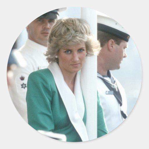 No.82 Princess Diana Sydney 1988 Classic Round Sticker
