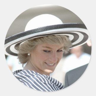 No.83 princesa Diana Sydney 1988 Pegatina Redonda