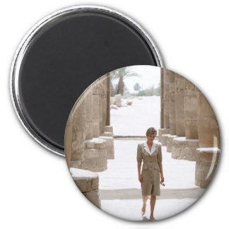 No.84 Princess Diana Luxor Egypt 1992 2 Inch Round Magnet