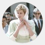 No.86 princesa Diana El Cairo 1992 Pegatina