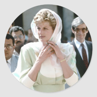 No.86 princesa Diana El Cairo 1992 Pegatina Redonda