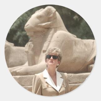 No.89 princesa Diana Luxor 1992 Pegatina Redonda