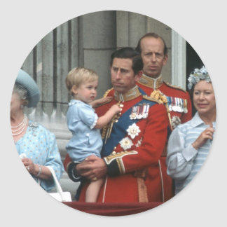 No.8 Prince Willam & Prince Charles 1984 Classic Round Sticker