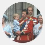 No.8 príncipe Willam y príncipe Charles 1984 Pegatina Redonda