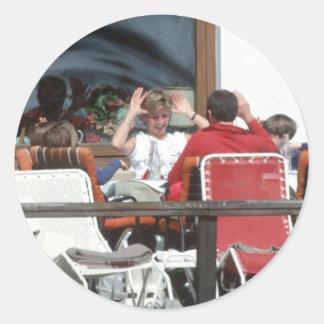 No.94 princesa Diana Austria 1991 Etiquetas Redondas