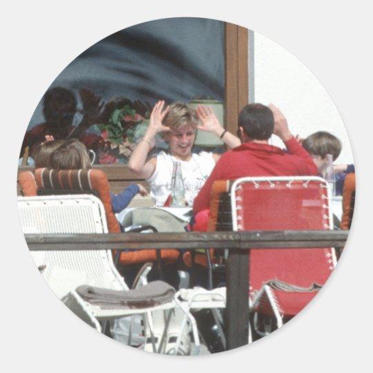 No.94 princesa Diana Austria 1991 Pegatina Redonda