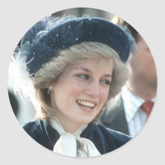 No.98 princesa Diana Wantage 1983 Pegatinas Redondas