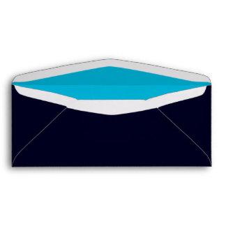 No. 9 Envelope dark blue-turquoise