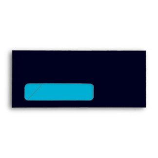 No. 9 Envelope dark blue-turquoise with window