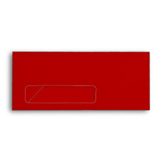 No. 9 Envelope red with window