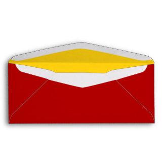 No. 9 Envelope red-yellow