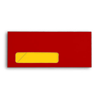 No. 9 Envelope red-yellow with window