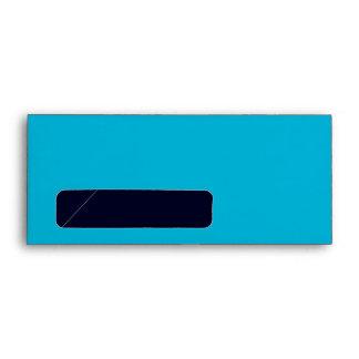No. 9 Envelope turquoise-dark blue with window