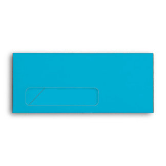 No. 9 Envelope turquoise with window