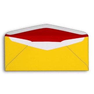 No. 9 Envelope yellow-red