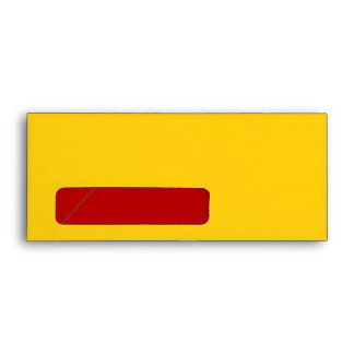 No. 9 Envelope yellow-red with window