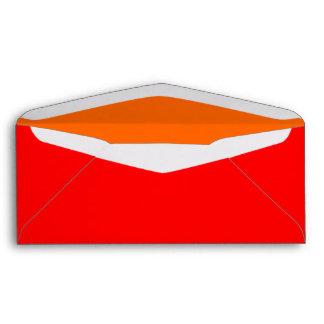 No. 9 rojo/naranja del sobre