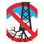 No a Fracking Membrete Personalizado