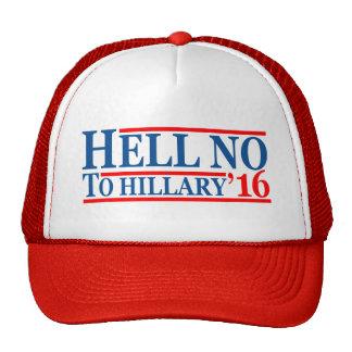 No a Hillary de 'gorra 16 camioneros Gorro De Camionero
