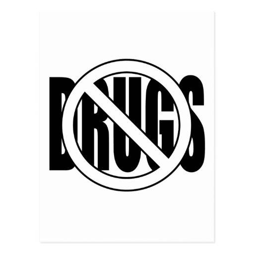 No a las drogas postal