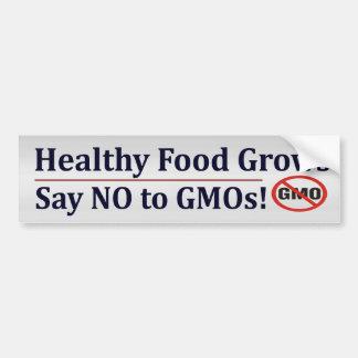 No a los GMOs Etiqueta De Parachoque